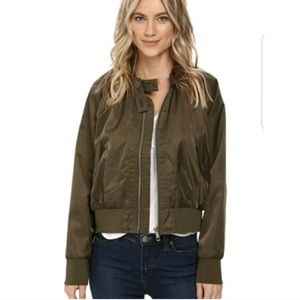 Free People NWT Army Green Bomber Jacket